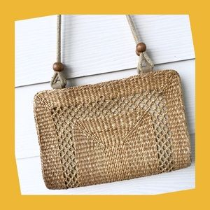 Handbags - Straw Shoulder Bag